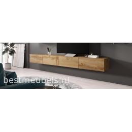 Verdi 11 Zwevend Tv-meubel 280cm Wotan