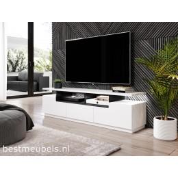 CARINI TV-meubel 180cm, hoogglans wit