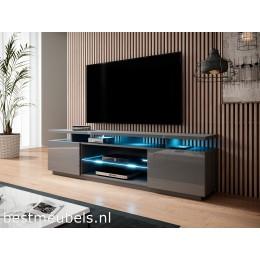 ENNA TV-meubel 180cm, Hoogglans Grafiet