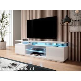 ENNA TV-meubel 180cm, Hoogglans Wit
