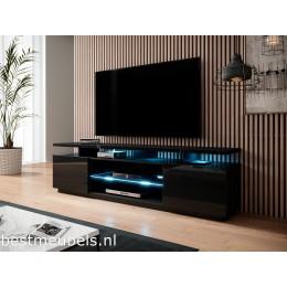 ENNA TV-meubel 180cm, Hoogglans Zwart