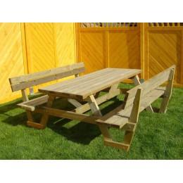 Picknicktafel met rugleuningen - Picknickbank 180x190x70